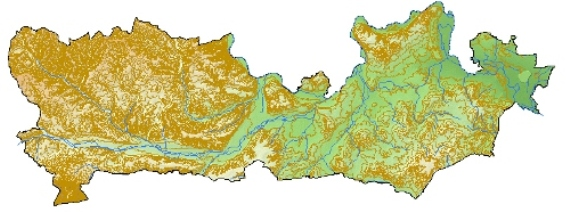 Atlas-topography